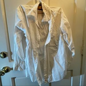 Nordstrom 16-32 White Button Up Long Sleeve Work